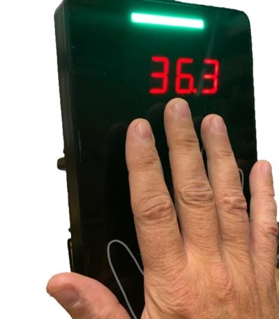 Lämpötilaskanneri kämmenestä